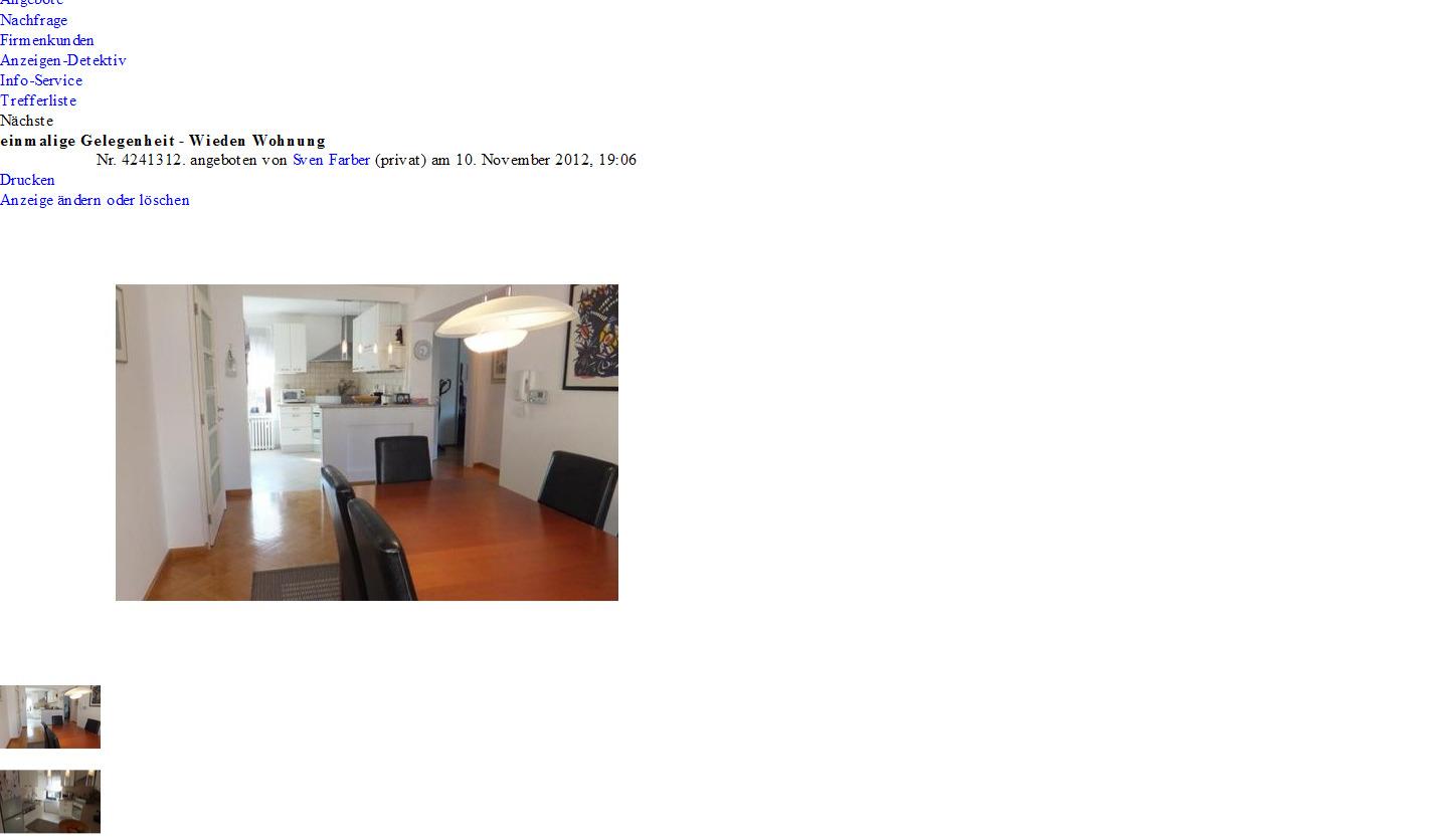 alias sven farber einmalige gelegenheit sch nburgstra e 56 1040. Black Bedroom Furniture Sets. Home Design Ideas