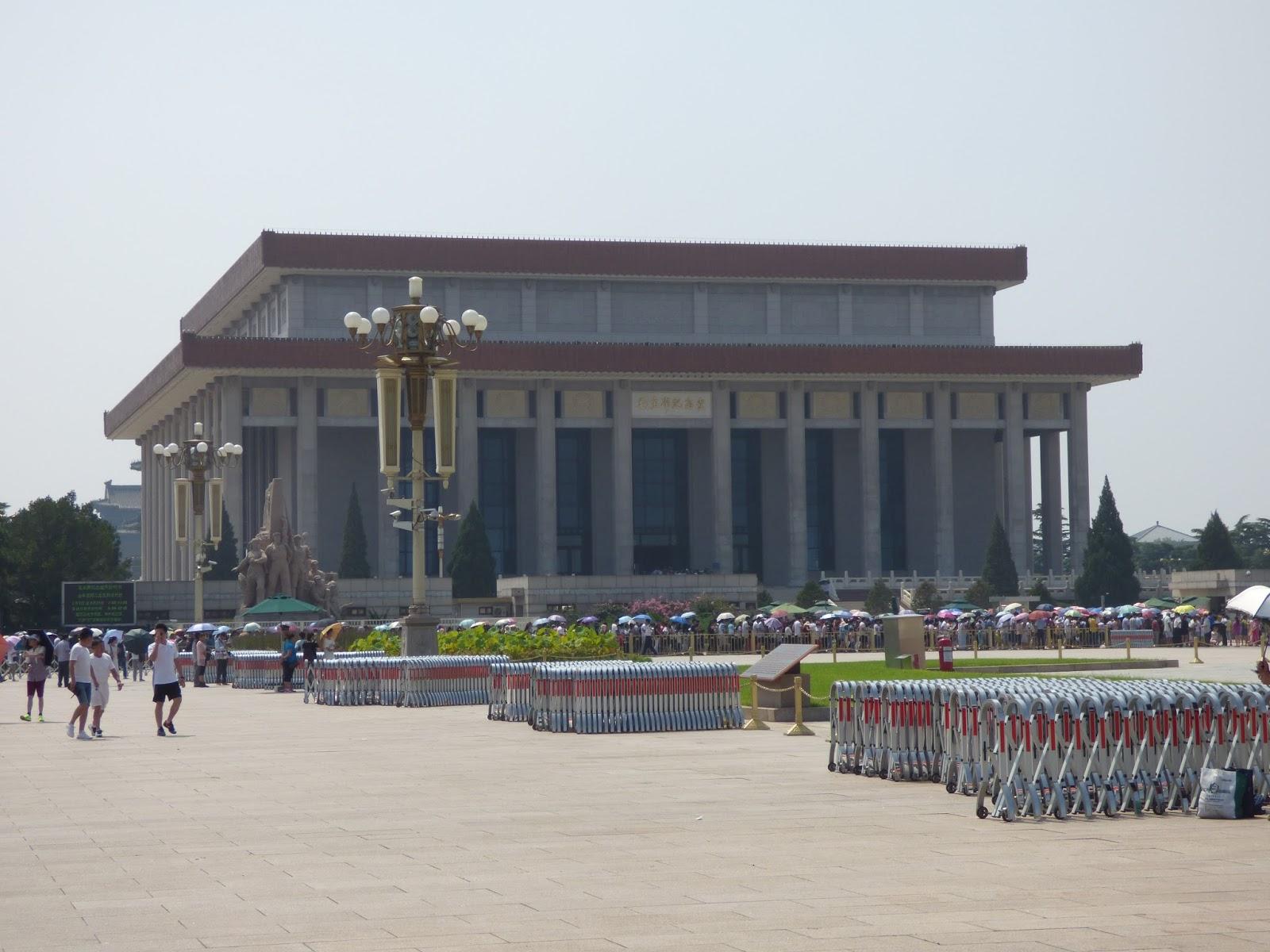 Mao Ce-tung mauzóleuma a Tiananmen téren