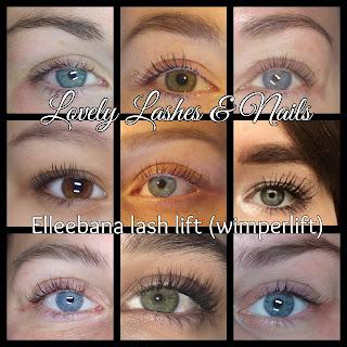Foto van ogen met een lashlift resultaat op https://www.lovelylashesnails.nl/p/lash-volume-lifting.html . Deze behandeling heet ook wel wimperlift. Waarbij de wimpers worden gelift en er langer uitzien zonder wimperextensions