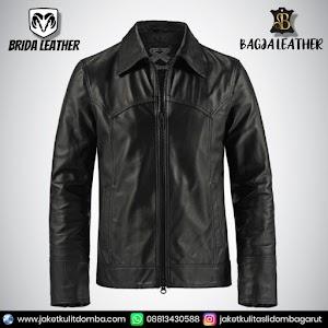 Jual Jaket Kulit Asli Garut Pria Domba Original Brida Leather B15   WA 08813430588