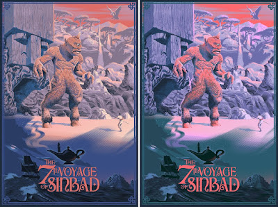 The 7th Voyage of Sinbad Screen Print by Laurent Durieux x Bottleneck Gallery x Justin Ishmael