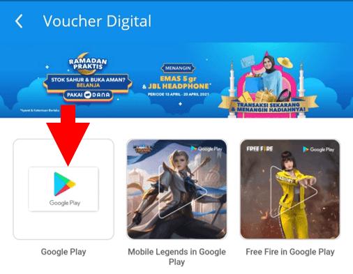 Pilih Google Play
