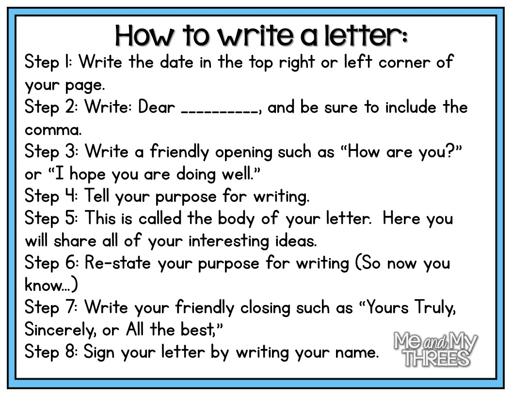 next it was time to start writing those letters after students have finished writing their letters they move on to the checklist we created together