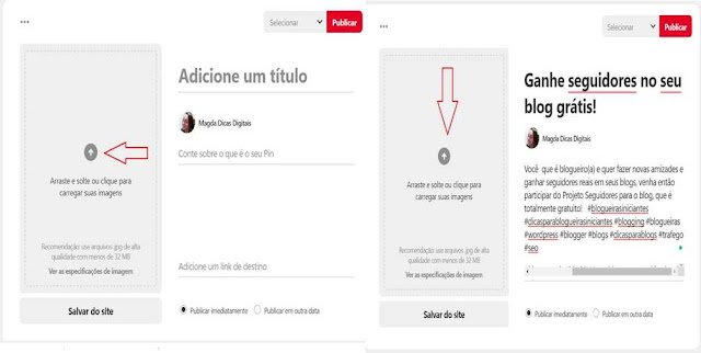 Tutorial sobre recurso carrossel no Pinterest