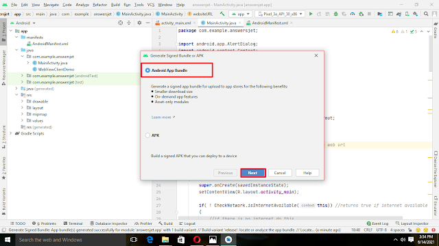 How to turn website into app using Android studio (URL to App)