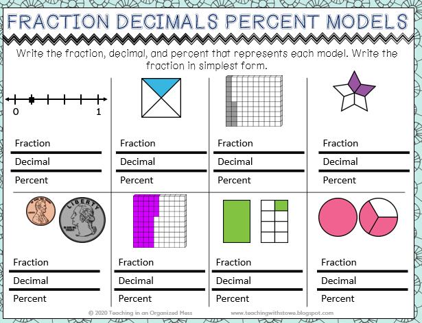 Fraction Decimal Percent Models