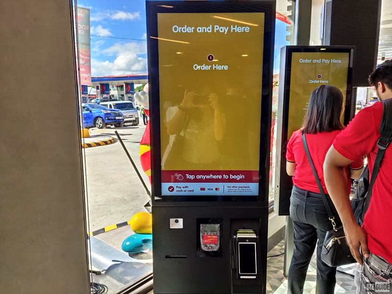Self-service kiosks located near the store's entrance