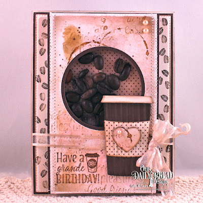 Our Daily Bread Designs Stamp Sets: I Love Coffee, Rise And Shine, Our Daily Bread Designs Custom Dies: Beverage Cup, Flourished Star Pattern, Circle, Pierced Circle, Our Daily Bread Designs Paper Collection:  Ephemera Essentials