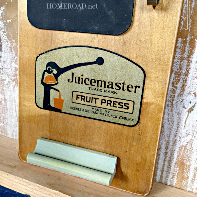 Vintage Juicemaster Memo Board www.homeroad.net