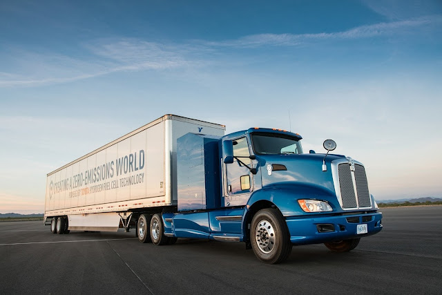 From Los Angeles to Long Beach, Toyota hydrogen truck is already making its first deliveries