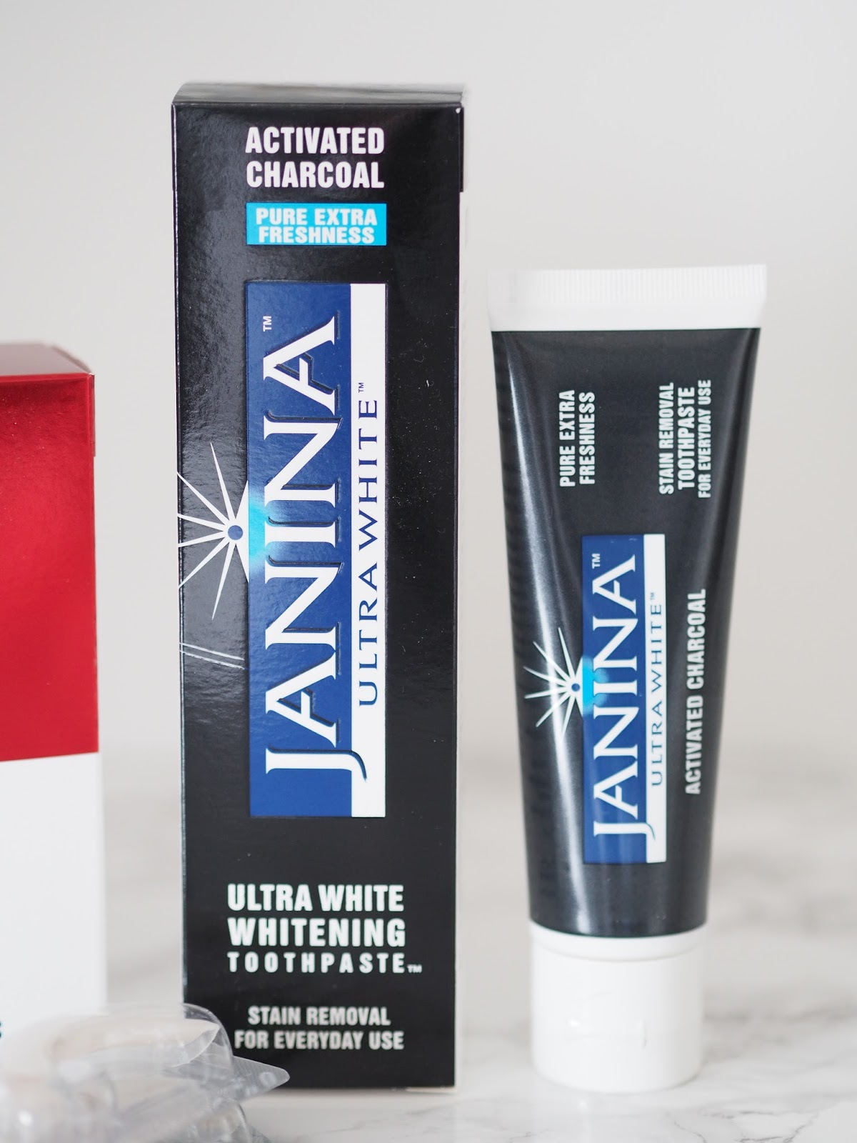 Janina Ultra white \ review\ National smile month \ teeth whitening \ charcoal toothpaste \ Priceless Life of Mine \ over 40 lifestyle blog