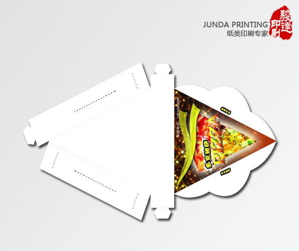 Custom packaging boxes pizza boxes made from corrugated cardboard folding triangle pizza box packaging maxwellsz