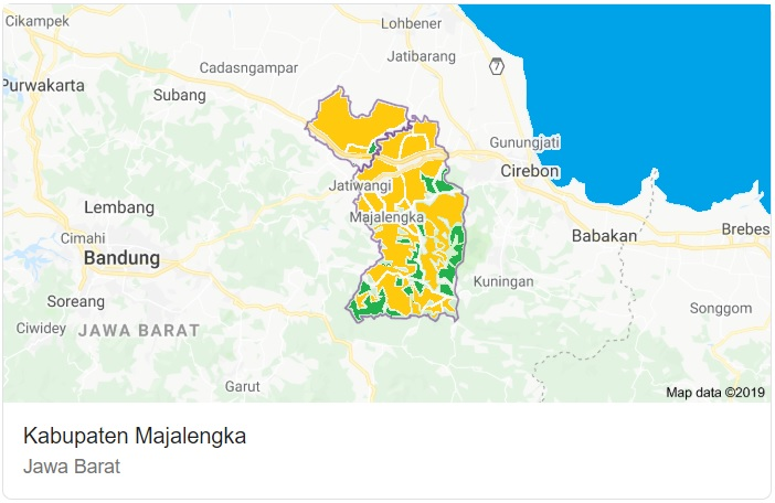 Peta Kabupaten Majalengka Jawa Barat