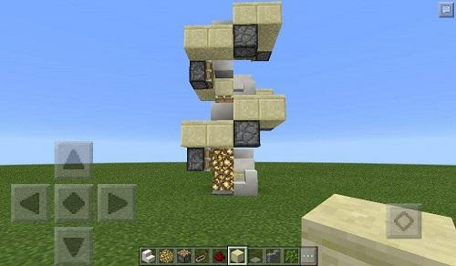 Thang máy dạng xoắn ốc trong vòng Minecraft