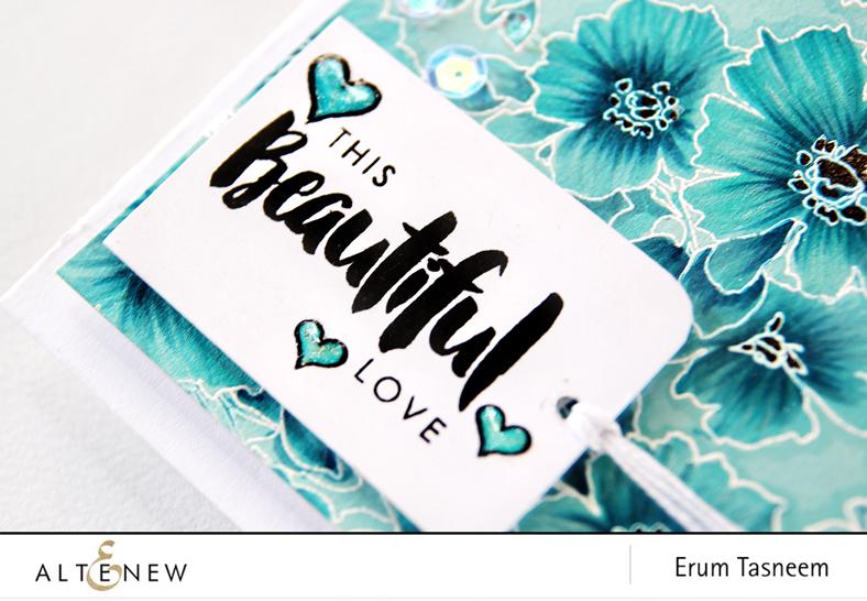 Altenew Charmed Stamp Set + Artist Markers. Card by Erum Tasneem - @pr0digy0