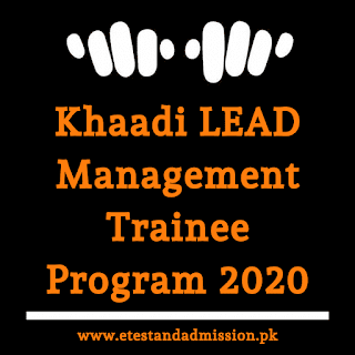 Khaadi Lead Management Trainee Program 2020