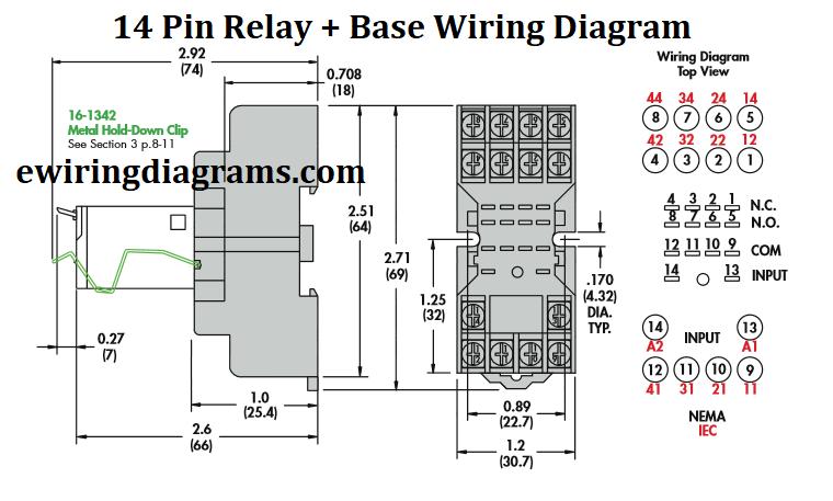14 pin relay wiring diagram  base wiring diagram