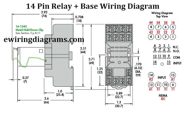 14 pin relay base wiring diagram