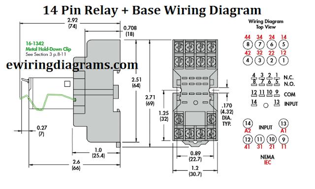 14 Pin Relay Wiring Diagram - Base Wiring Diagram