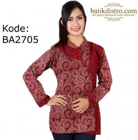 42 Model Baju Batik Kerja Lengan Panjang Terbaru 2019