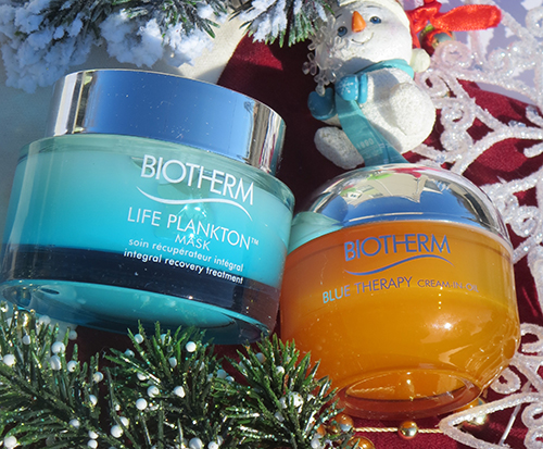 Give the Gift of Hydration with Biotherm Blue Therapy Cream in Oil and Biotherm Life Plankton Mask~ #Review #Giveaway #2016GiftGuide