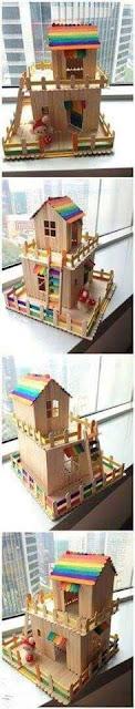 casa hecha con palitos de madera