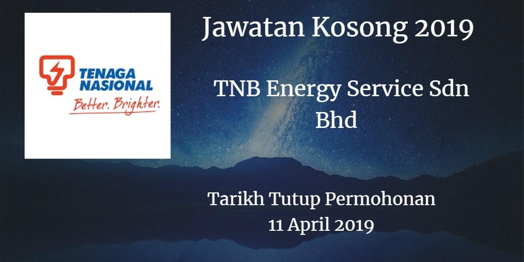 Jawatan Kosong TNB Energy Service Sdn Bhd 11 April 2019