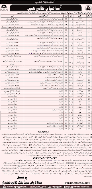 Jhalawan Medical College announced the latest jobs in Pakistan Today