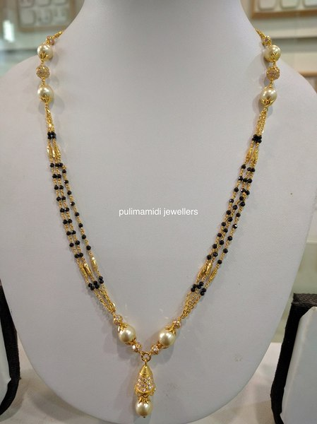 Black Beads Sets By Pulimamidi Jewellers Jewellery Designs