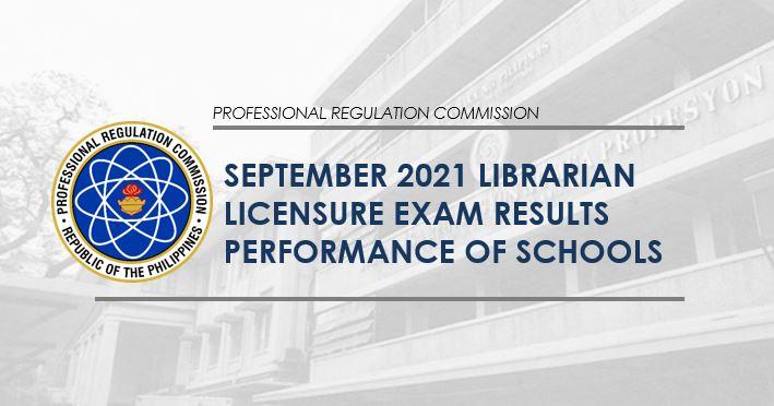 PERFORMANCE OF SCHOOLS: September 2021 Librarian board exam result