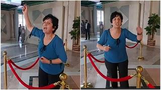 بالفيديو سامية عبو تحتج و تسبب فوضى داخل البرلمان بسبب نبيل القروي