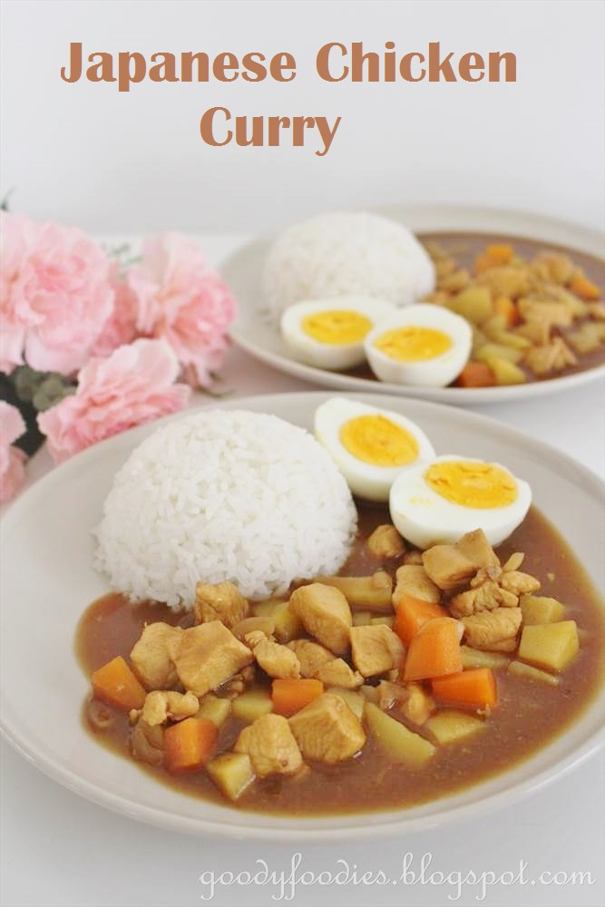Goodyfoodies recipe japanese chicken curry best compliment of the evening came from hubby who declared it as good as the japanese curries you get in the restaurant forumfinder Image collections