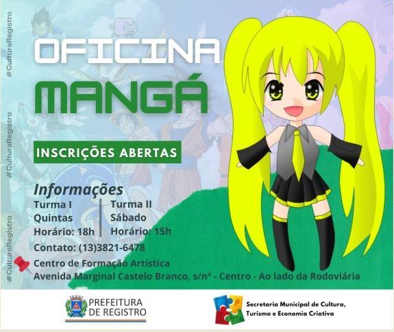 Inscrições abertas para oficinas culturais em Registro-SP