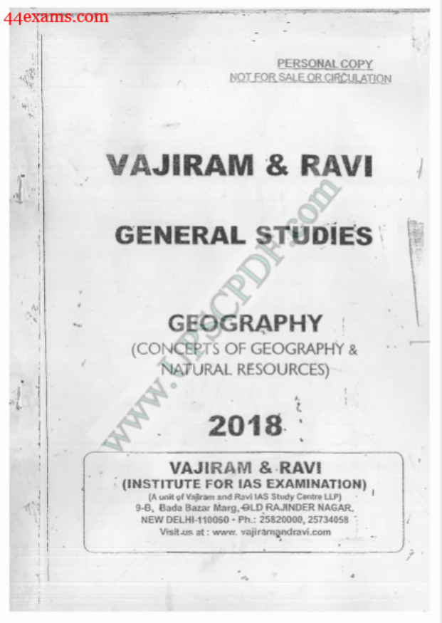 Geography By Vajiram and Ravi : For UPSC Exam PDF Book