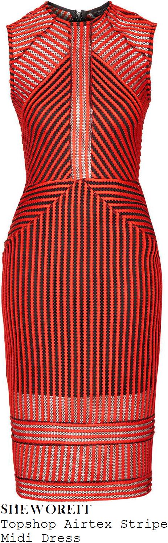alesha-dixon-orange-red-black-sheer-airtex-mesh-sleeveless-bodycon-midi-dress-good-morning-britain