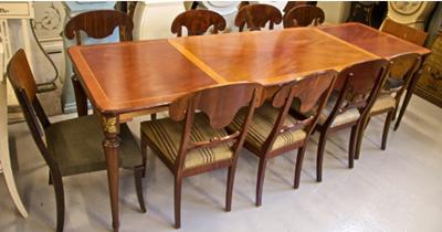meja makan klasik motif inlay