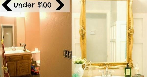 Bathroom Makeover Under 100 Vintage Romance Style
