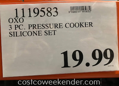 Deal for the Oxo Softworks 3-piece Silicone Pressure Cooker Accessories Set at Costco