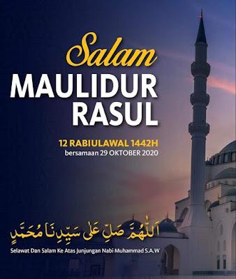 Salam Maulidur Rasul 12 Rabiulawal 1442H