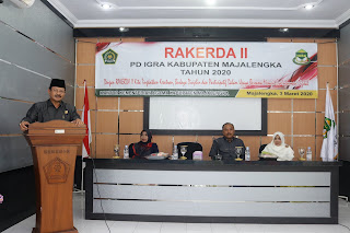 Kepala Kantor Kementerian Agama Kab. Majalengka Buka RAKERDA II IGRA Tahun 2020