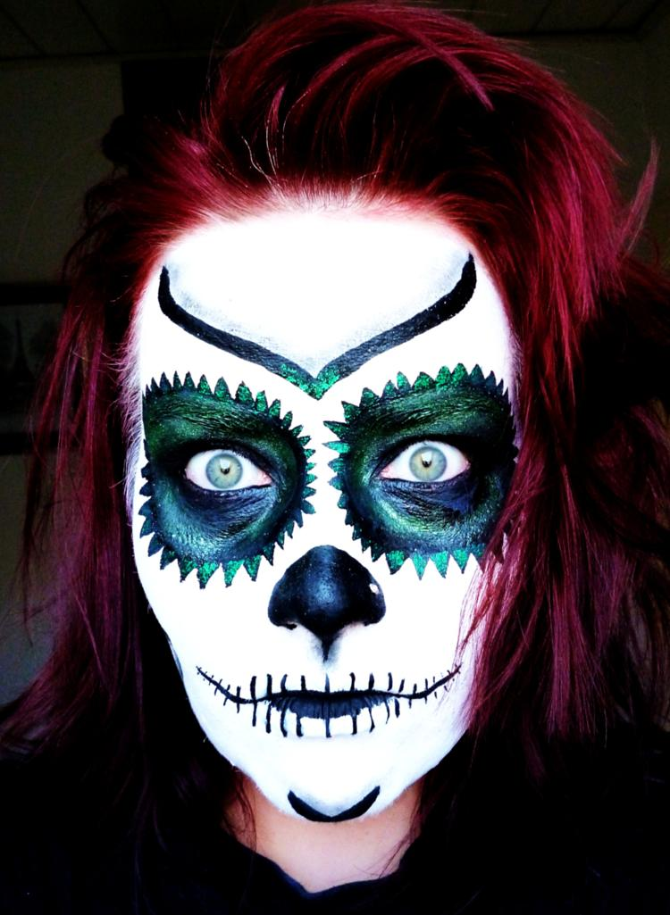 sandra sances sugar skull for halloween. Black Bedroom Furniture Sets. Home Design Ideas