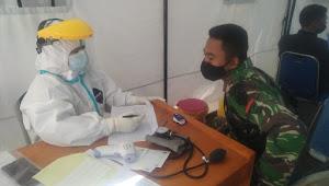 Dua Anggota Satgas Citarum Sektor 1 Jalani Tes Swab PCR di Puskesmas Kertasari Setelah Jalani Isoman Selama 14 Hari