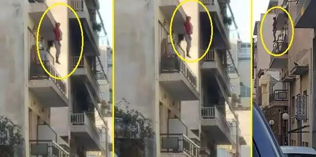 Κι άλλος λαθρομετανάστης κρεμασμένος από μπαλκόνι(!!!) ωραία πράγματα κρίμα που δεν ηταν κανένα αριστερό μίασμα!