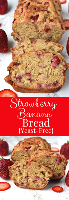 Yeast-Free Strawberry Banana Bread