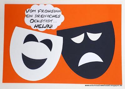 Fasching to go in Corona-Zeiten - kleiner Gruß vom Verein! Stampin' Up! www.eris-kreativwerkstatt.blogspot.de