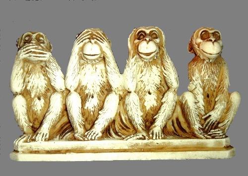 Ba con khỉ của Mahatma Gandhi