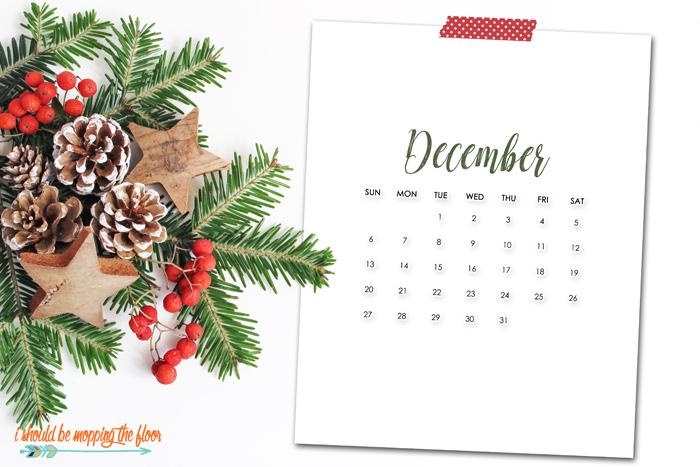 December Calendar Printables