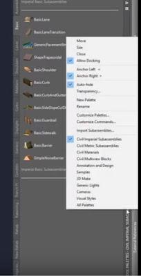 Autodesk Civil 3D Tool Palette