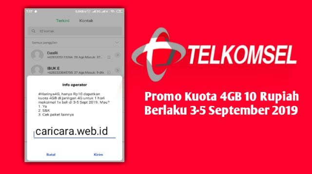 Promo Telkomsel Rp.10