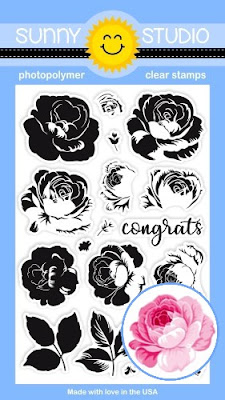 Sunny Studio Stamps: Introducing New Everything's Rosy 4x6 Layering Rose Photopolymer Stamp Set